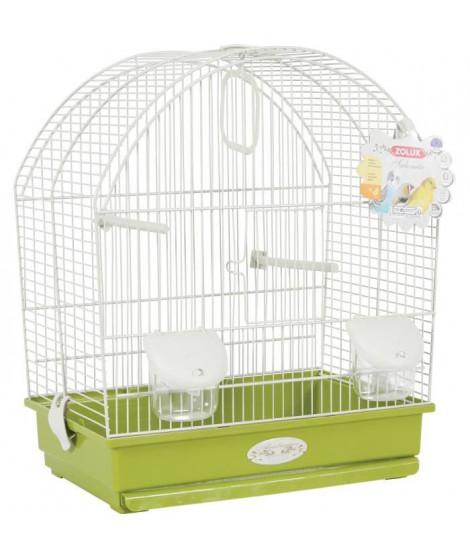 ZOLUX Cage Salomée pour oiseaux - L 40 x P 31 x H 48 cm - Vert olive