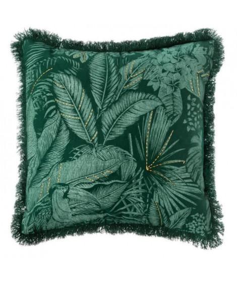 Housse de Coussin Jungle Brodé - 40 x 40 cm - Vert