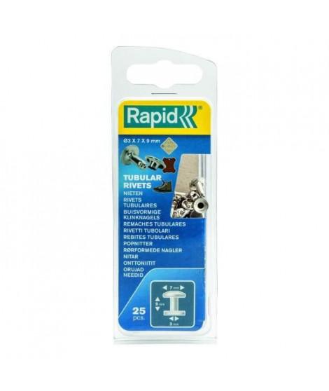 RAPID 25 rivets tubulaires 3x7mm