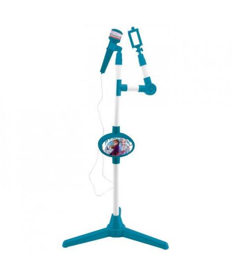 LEXIBOOK - La Reine des Neiges II - Microphone avec pied lumineux et haut-parleur