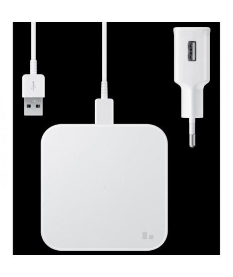 Pad Induc plat Charge Rapide USB-C Blanc sans CS