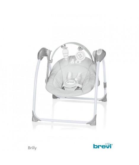 BREVI Balancelle Bébé Brilly Lapinou Perle 2 Positions Nouveau Modele