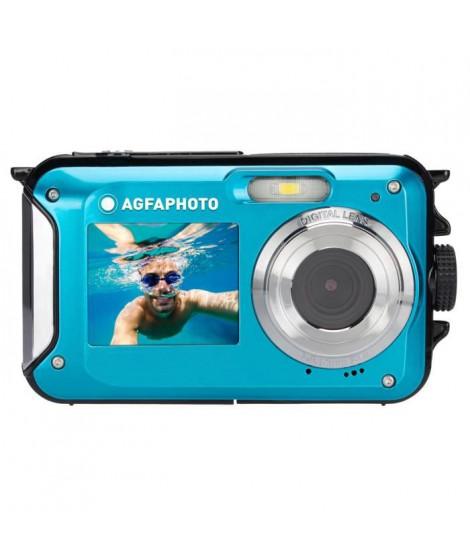 AGFA PHOTO Realishot WP8000 - Appareil Photo Numérique Étanche (Vidéo HD, Double écran LCD, Zoom Digital 16x) - Bleu