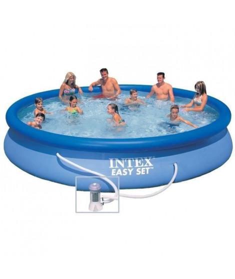 INTEX Kit piscine ronde autoportée Easy Set - 457,2 x 83,82 cm