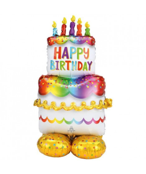 AirLoonz Gâteau d'anniversaire 127 cm P70