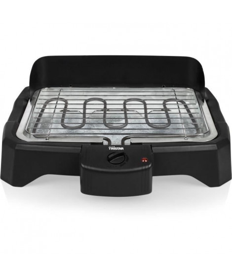 TRISTAR - BQ-2824 - Barbecue électrique de table - 2000W - Plaque de cuissson 34,5cm x 23cm