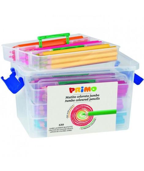 PRIMO   Lot de 120 Crayons de Couleur Jumbo - P511MAXI120