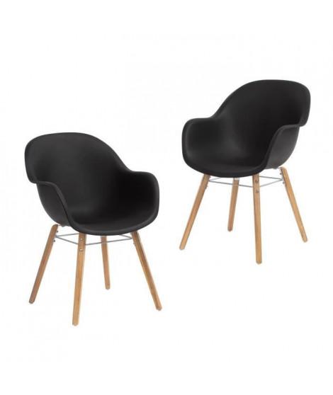 Lot de 4 fauteuils PP bois