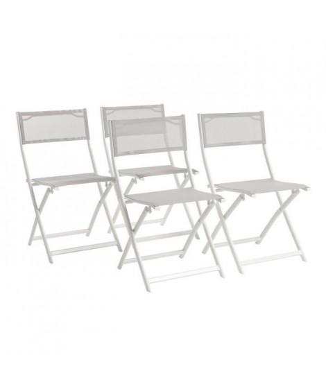 Lot de 6 chaises pliantes alu textilene