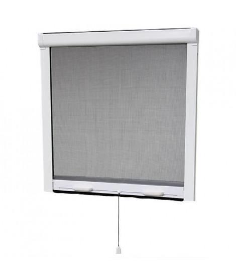 Moustiquaire enroulable en PVC pour fenetre - H145 x L100 cm