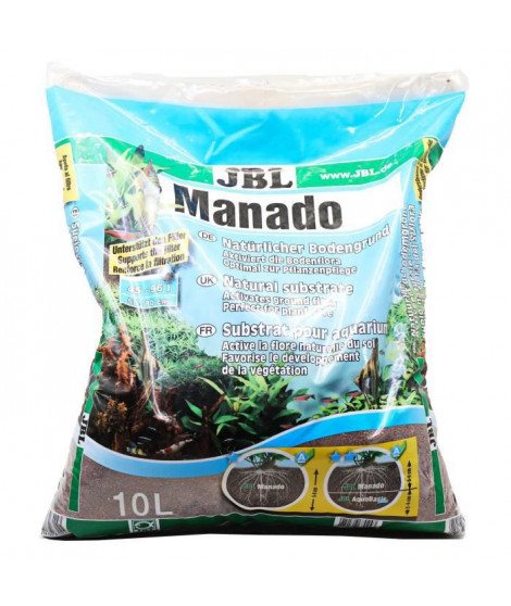 JBL Substrat de sol Manado - Pour plantes d'aquarium - 10l