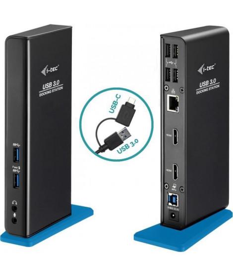 i-tec - USB 3.0/USB-C Station d'accueil Universelle pour Ordinateur Portable