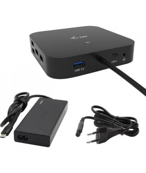 i-tec - USB-C Station d'accueil 2x4K avec Adaptateur Secteur PD 65W