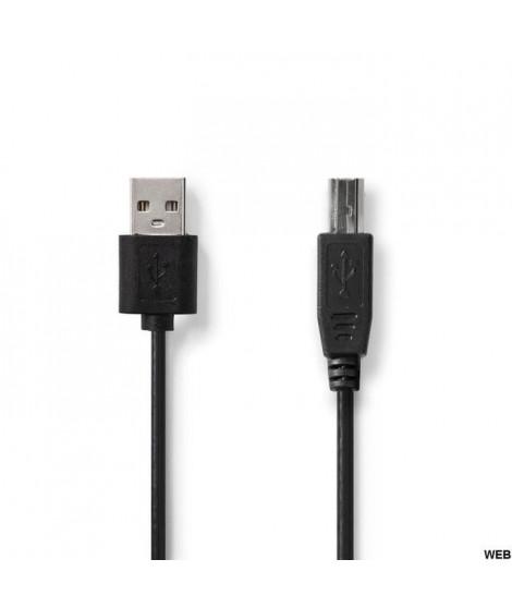 Câble USB 2.0 A Male / B Male de 2m