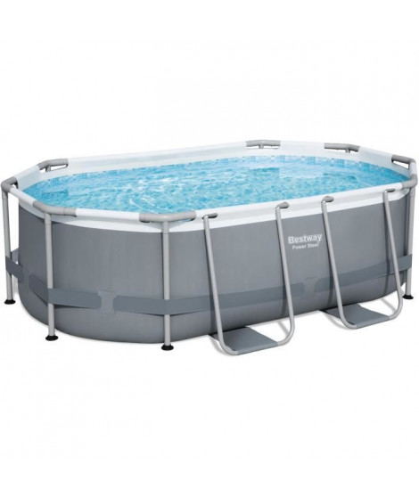 Piscine hors sol Power Steel ovale 305 x 200 x 84 cm, filtre a cartouche, diffuseur Chemconnect