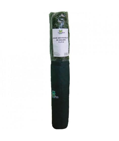 IDEAL GARDEN Haie artificielle - 1 x 3 m - Bicolore : 2 tons de vert