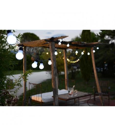 FETE-Guirlande LED d'extérieur 15 Ampoules L9m raccordable Noir Blachere Illumination