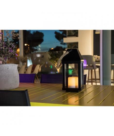 LUMISKY Lanterne solaire LED - Ø13,5x30,2cm - Blanc chaud