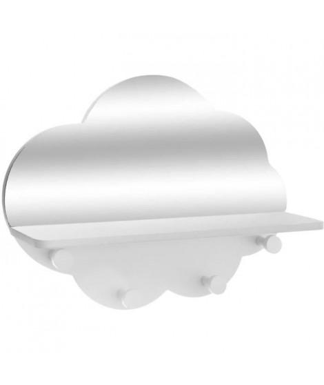 Patere nuage + Miroir - Blanc