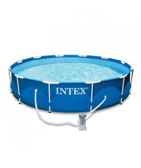 INTEX Kit piscine tubulaire ronde Métal Frame - Ø 3,65 x 0,76 m