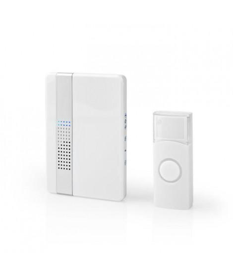 NEDIS Kit de sonnette sans fil - Alimentation secteur - 80dB - 36 mélodies - Blanc