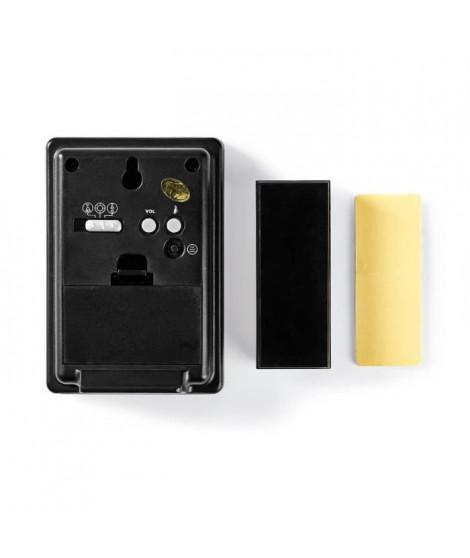 NEDIS Kit de sonnette sans fil - Alimentation par pile - 36 mélodies - Noir et aluminium