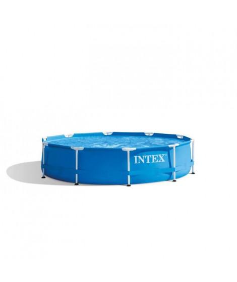 INTEX Kit piscine tubulaire ronde Métal Frame - Ø 305 x 76 cm