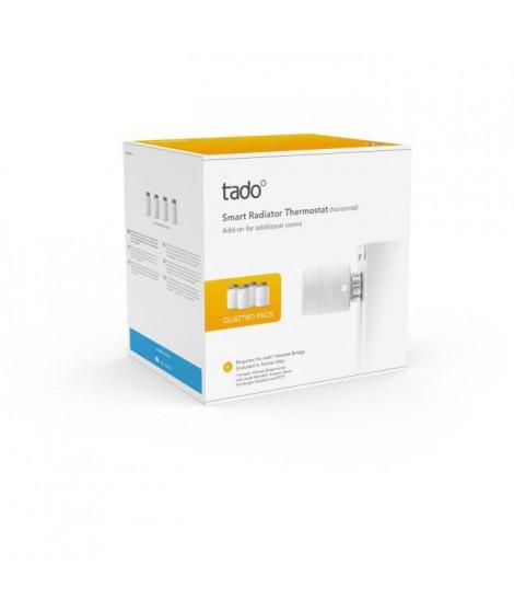 TADO Tetes Thermostatiques connectées - Quattro Pack