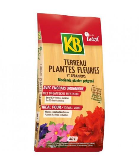 KB Terreau Plantes fleuries et géraniums - 40 L