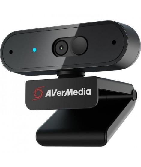 AVerMedia Webcam Full HD 1080p30 PW310P-Autofocus-Rotation ... 360ø- Con‡ue pour Skype, Zoom, Google Meet, Microsoft Teams, O…