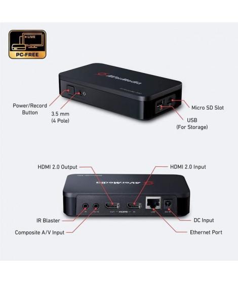 AVerMedia EzRecorder330- Booetier Enregistrement et Streaming en Full HD 1080p sans PC- Passerelle 4K-Compatible Consoles Nex…