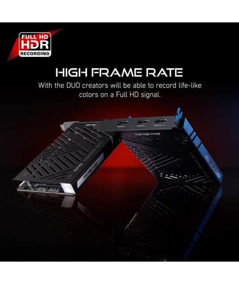 AVerMedia Live-Gamer Duo 4Kp60 HDR Passthrough PCI-E, Temps de Latence extrˆmement Bas Id'al pour Xbox, Playstation et PC (GC…