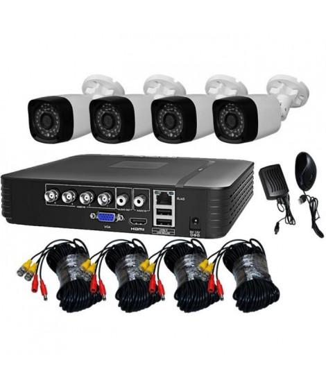 TEETAN KIT DE VIDEOSURVEILLANCE 4 CAMERAS 1080P IP66