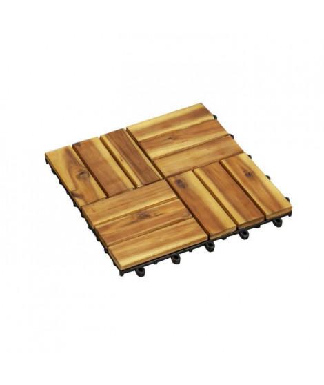 BEAU RIVAGE Lot 10 dalles de terrasse en bois FSC