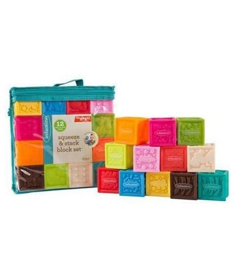 INFANTINO Sac vinyle 10 cubes sensoriels