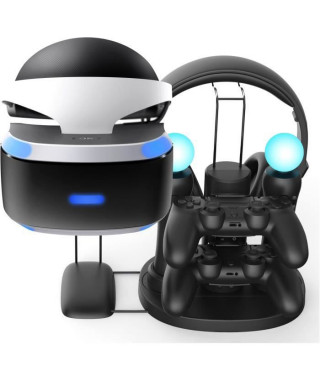 Station de recharge All in One pour PS VR + 2 manettes + 2 PS moves + 1 casque gaming - SUBSONIC - PS4 / PS4 Slim / Pro