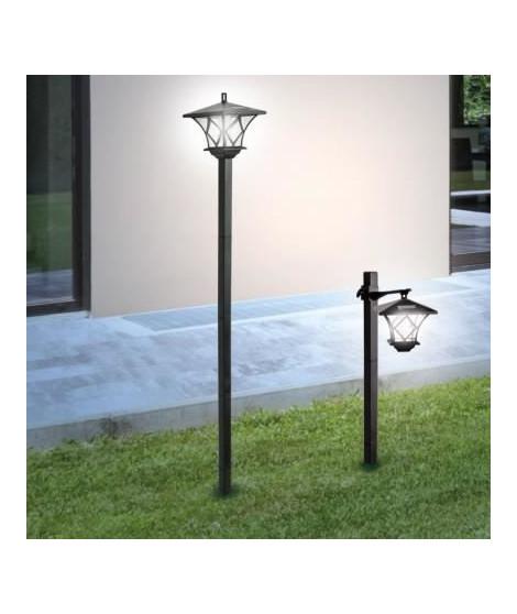Lampadaire solaire LED blanches - 2 positions - Plastique - H 150 cm