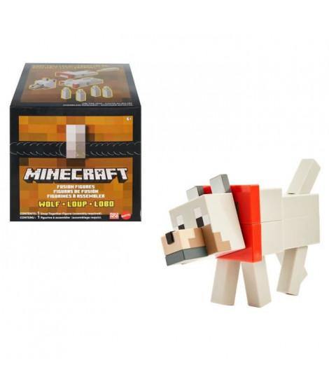 MINECRAFT Figurine Loup 20cm a construire