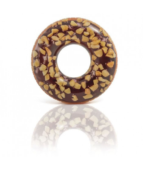 INTEX Bouée gonflable Tube Donut Choco Noisette - Ø 114 cm