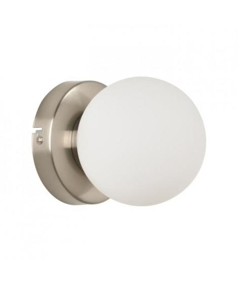 COREP Applique Seventy base ronde en métal peint - E14 25 W - Alu brossé