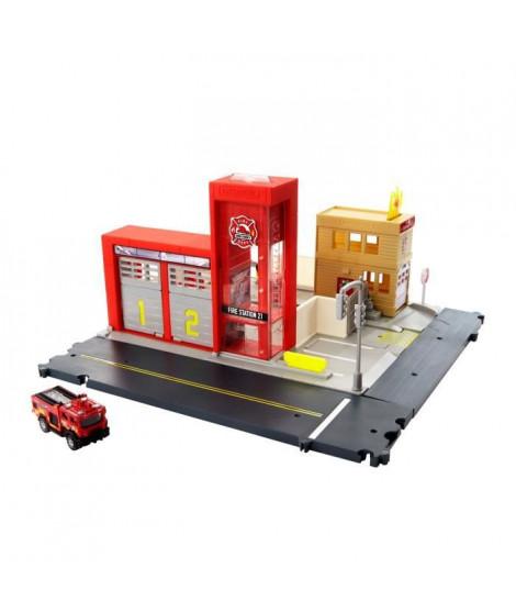 MATCHBOX Caserne de Pompiers - Circuit / Petite Voiture - 3 ans et +