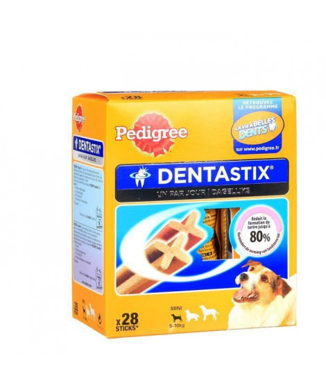 PEDIGREE Dentastix Bâtonnets - Pour petits chiens - 440 g (x4)