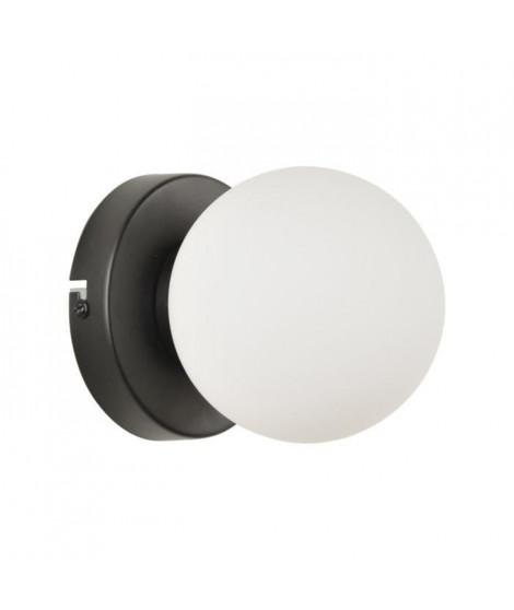 COREP Applique Seventy base ronde en métal peint - E14 25 W - Noir