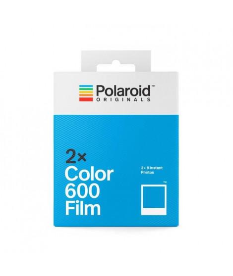 POLAROID ORIGINALS 4841 Double Pack Film couleur pour Appareil Polaroid 600 - Cadre blanc classique