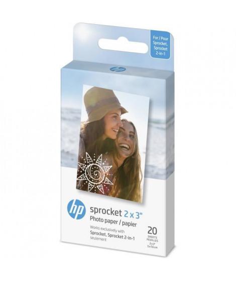 Papier Photo adhésif HP ZINK - 20 feuilles - 5 x 7,6-cm (2 x 3-inch) - HP Sprocket