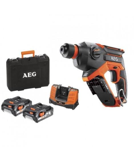 AEG Perforateur compact sans fil Pro18V - 2 batteries 2,0Ah - 1 chargeur - 1 coffret de rangement