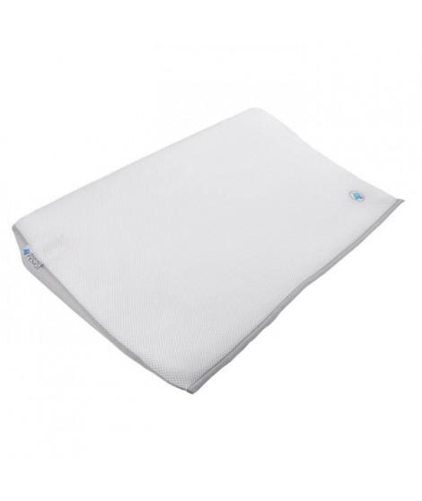 DOUX NID NOVA Plan Incliné 15° Confort 3D - Pour Lit 60x120 Cm - Perle/Blanc - Maille3d