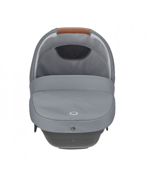 BEBE CONFORT Nacelle Amber Plus Essential Light Grey, des la naissance, sécurite auto (Groupe 0), multi-usages