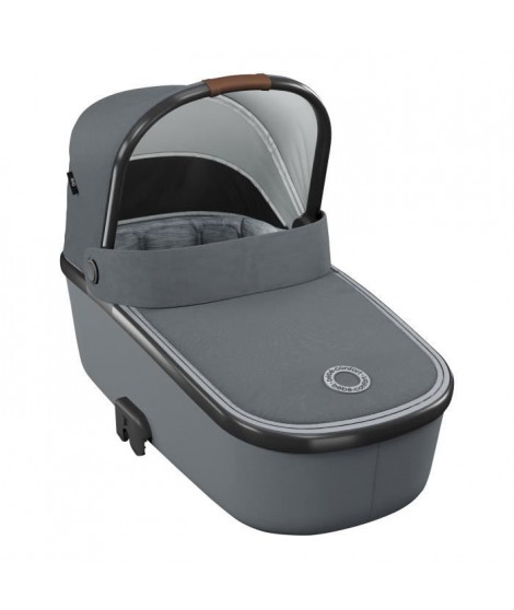 BEBE CONFORT Nacelle Oria, De la naissance a 6 mois, Légere et Pliable, Essential Light Grey