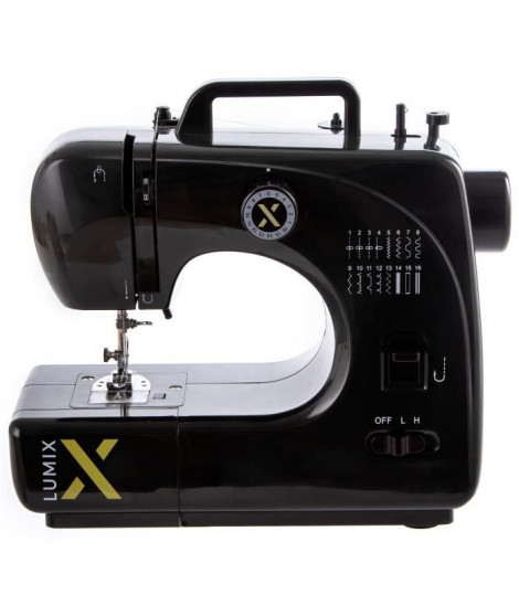 LUMIX - Machine a coudre - LUMIX16/BLK - 16 programmes - Noir